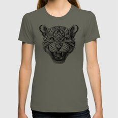 Leopard Womens Fitted Tee Lieutenant SMALL