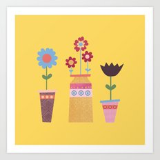 Beautiful Plant Pots Art Print