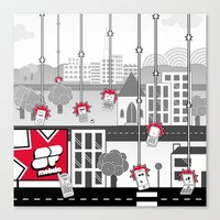 SF Mobile World Canvas Print