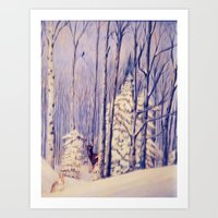 Winter Solace Painting Art Print