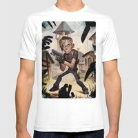 Resident Evil 4 Mens Fitted Tee White SMALL