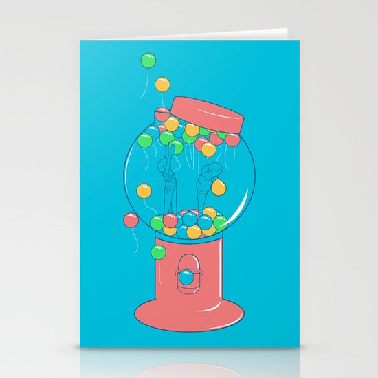 Balloon, Gumball Stationery Card