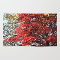 Fall Maple Trees Of Red … Rug