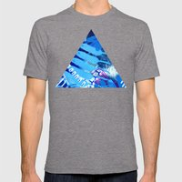 Wave blue Mens Fitted Tee Tri-Grey SMALL
