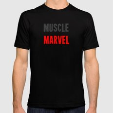 Workout Collection: Muscle SMALL Black Mens Fitted Tee