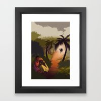 When The Men Came Framed Art Print