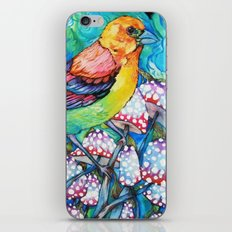 birds and mushrooms iPhone & iPod Skin