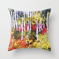 Title: Glorious Colors - digital Silk Screen Throw Pillow
