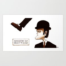 The Ministry of Silly Walks Art Print