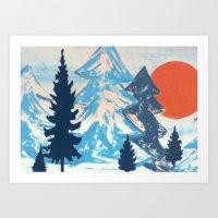Pine & Sun Art Print