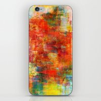 AUTUMN HARVEST - Fall Colorful Abstract Textural Painting Warm Red Orange Yellow Green Thanksgiving iPhone & iPod Skin