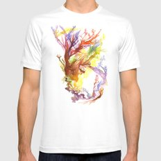Volcanic Tango SMALL Mens Fitted Tee White