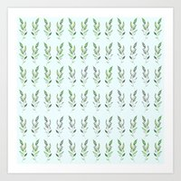 Nature repetition Art Print