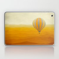 Hot Air Balloon in Yellow Grey Laptop & iPad Skin