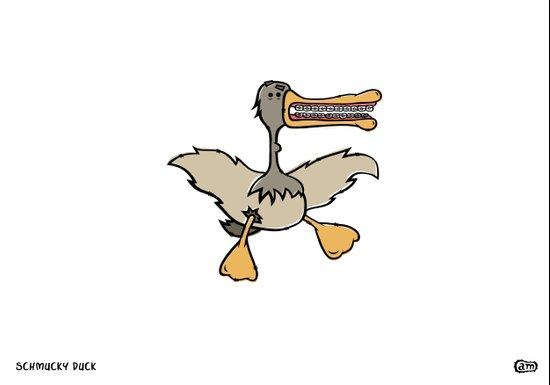 Schmucky Duck #1 Art Print