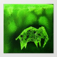 Canvas Print featuring Elephant Origami 1 by eefak