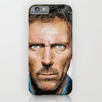 iPhone & iPod Case featuring Hugh Laurie, House by Penny Crichton-Seager