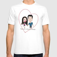 Rebecca Black and Simon Cowell are Friends Mens Fitted Tee SMALL White