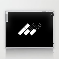 I Like You Graphik: White Type Laptop & iPad Skin