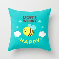 Buzzing life! Throw Pillow