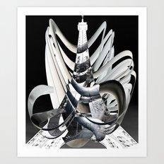 Eiffel Tower Paris New D… Art Print
