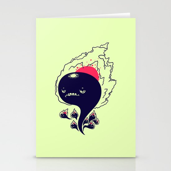 Flaming Squiggles Stationery Card
