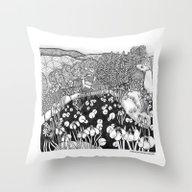Zentangle Vermont Landsc… Throw Pillow