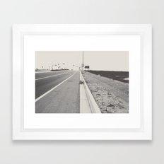 Boring Postcard Framed Art Print