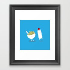 Cereal & Milk  Framed Art Print