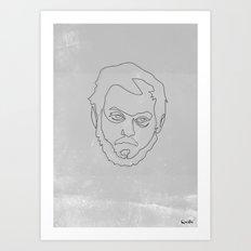 One line Stanley Kubrick Art Print