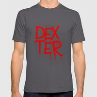 word: Dexter Mens Fitted Tee Asphalt SMALL
