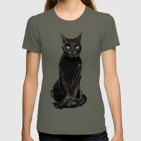 Black Cat Womens Fitted Tee Lieutenant SMALL