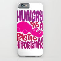 iPhone & iPod Case featuring Hungry as Plastic Hippopotamus  by Chris Piascik