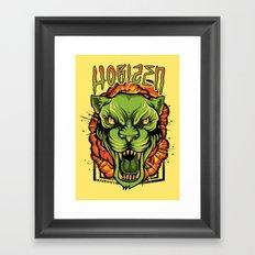 Explosive Panther Framed Art Print