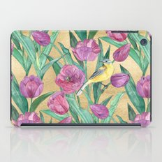 Blue Headed Wagtail in the Tulips iPad Case
