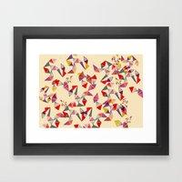 Watercolour Geometric Sh… Framed Art Print