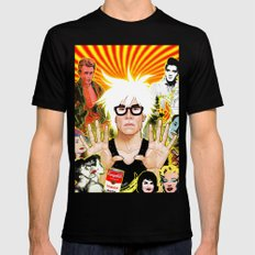 Icon (Warhol) Mens Fitted Tee Black SMALL