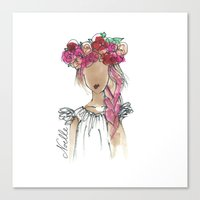 Flower Crowned Canvas Print