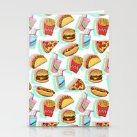 Rainbow Fast Food Stationery Cards