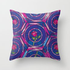 Beauty and the Beast Rose Pattern Throw Pillow