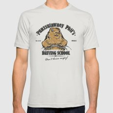 Punxsutawney Phil's Driving School Mens Fitted Tee Silver SMALL