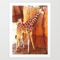 Mama and Baby Art Print