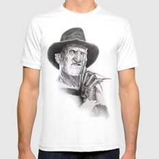 Freddy krueger nightmare on elm street Mens Fitted Tee White SMALL
