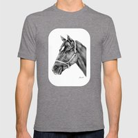 Affirmed (US) Thoroughbred Stallion Mens Fitted Tee Tri-Grey SMALL