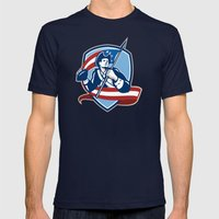 American Patriot Footbal… Mens Fitted Tee Navy SMALL