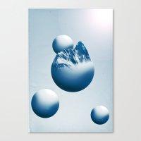Ice Mountain Planet Canvas Print