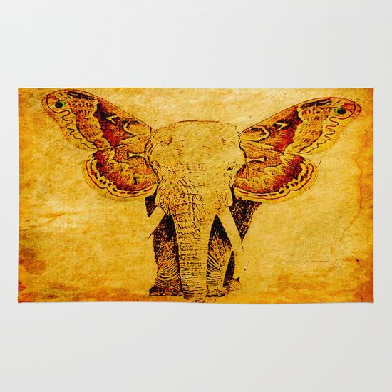 The elephant who wanted to be a butterfly Area & Throw Rug