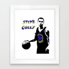 Stephen Curry Golden State Point Guard  Framed Art Print