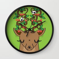Love With Cherries On To… Wall Clock