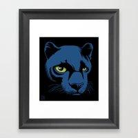 Black Panther Head Framed Art Print